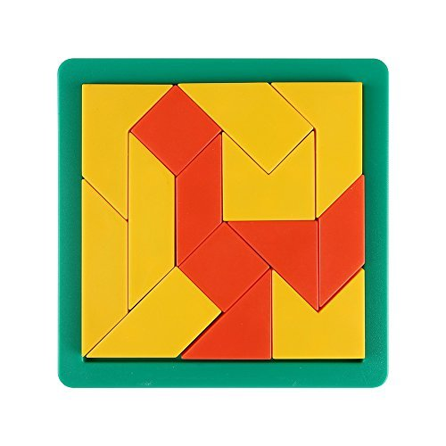 SainSmart Jr. 14 St¨¹ck Bricks Tangram-Puzzle, mit Pull-out-Spiel Tray, 60 Herausforderungen (Raum Geist Kostüm Kind)