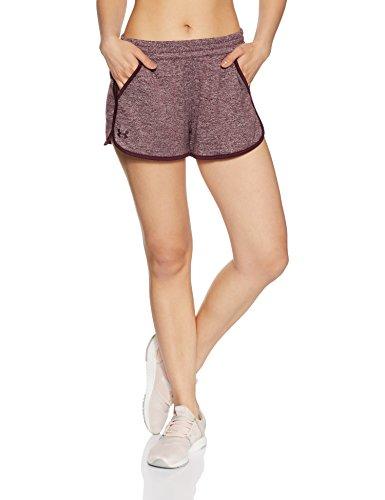 Under Armour Damen Tech Shorts 2.0 Twist Kurze Hose, Raisin Red, XS