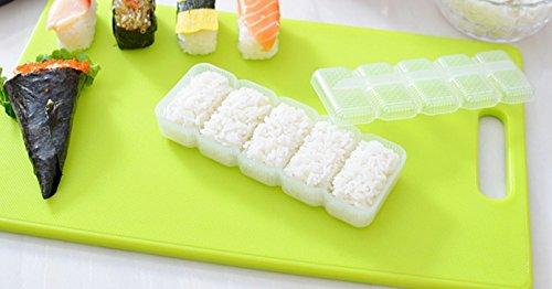 Nalmatoionme Plastique Transparent Moule à Sushi Boule de riz antiadhésif Outil de presse 1pièce