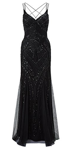 Perla Black Embellished Maxi Dress