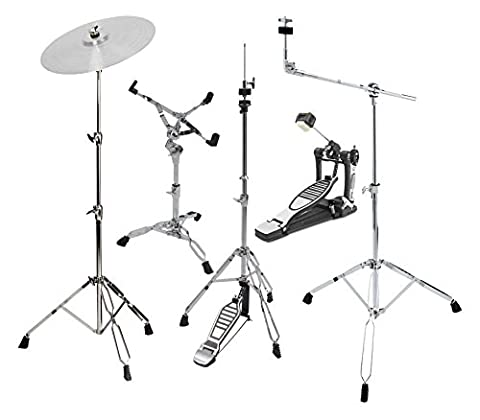 XDrum HP-Semi Hardware Pack (5-teilig, Galgenbeckenständer, gerader Beckenständer, Snareständer, Single Fußmaschine, (Cymbal Stand Pack)