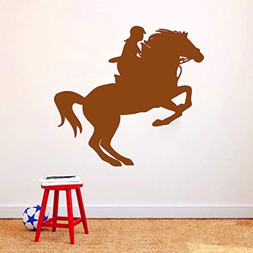 guijiumai Frau Reiter Pferd Wandaufkleber Steuern Dekor Wohnzimmer Schlafzimmer Dekoration Wandkunst Wandtattoos 4 63 cm x 59 cm