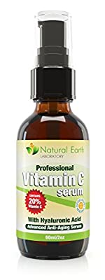 Vitamin C Serum for Face and Skin with Hyaluronic Acid, Anti-Ageing, 60 ml. from Natural Earth Laboratory
