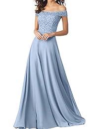 Topkleider Damen Elegant Off-Schulter Perlen Paillette Chiffon Abendkleider  Lang Partykleider Promkleider 3026d9512b