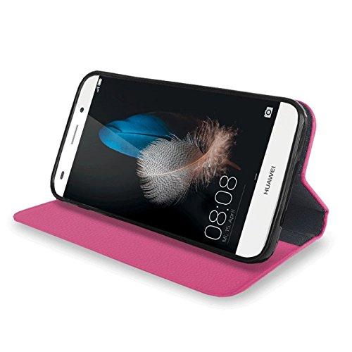 Für Apple iPhone --- 7-Plus --- eSPee Hülle Schutzhülle Wallet Flip Case Lila mit UNZERBRECHLICHER Silikon Schale / Bumper und Magnetverschluss Pink