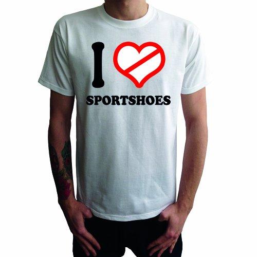 I don't love Sportshoes Herren T-Shirt Weiß