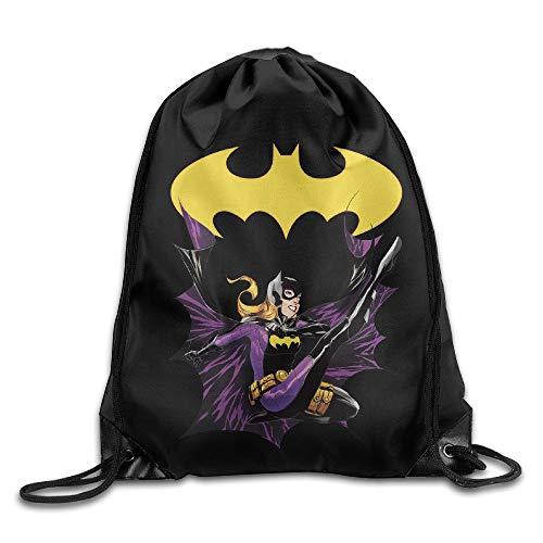 oldable Large Capacity Creative Design Batgirl Cartoon Drawstring Backpack Sport Bag for Men and Women ()