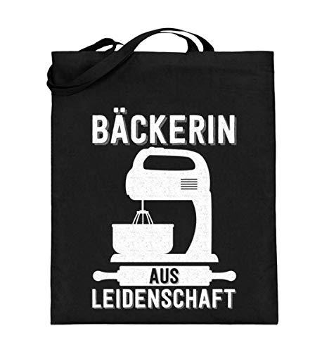 Chorchester Bäckerin Backen aus Leidenschaft - Jutebeutel (mit langen Henkeln) (Leidenschaft Für Das Backen)
