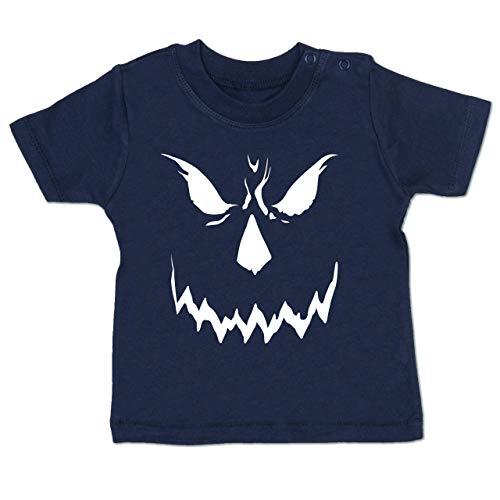 Anlässe Baby - Scary Smile Halloween Kostüm - 6-12 Monate - Navy Blau - BZ02 - Baby T-Shirt Kurzarm