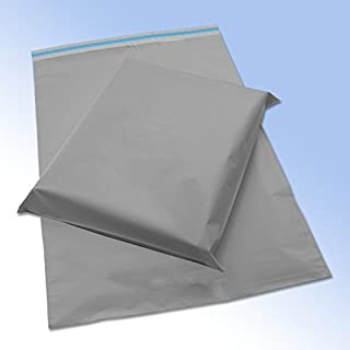 50 Grey Plastic Mailing Mail Post Postage Bags 10 x 14