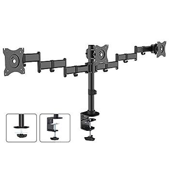 Maclean Brackets MC-691 Triple Monitor Arm LED LCD Plasma Screen Desk Mount 13