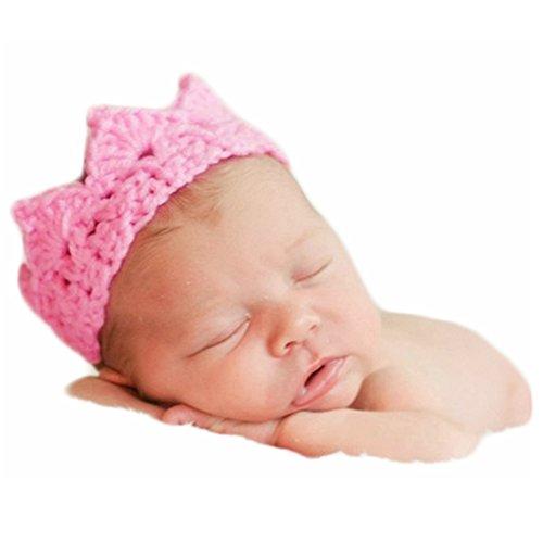 Baby Fotoshooting Kostüm Mädchen Junge Foto Accessoires Outfit Neugeborenen Fotografie Krone Kopfschmuck (Rosa)