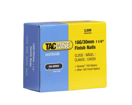 Tacwise 0293 Clous de Finition 16 GA/30 mm Lot de 2 500 Pièces