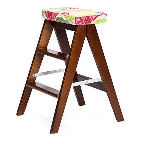 KFXL yizi Tabouret pliant en bois massif Banc de cuisine à domicile Tabouret de bar 8 couleurs en option Paquets optionnels 39 * 59cm (Couleur : E, taille : # 2)