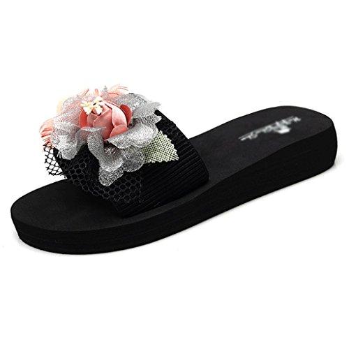 Chaussons Pantoufles Femme Été Mode Porter des Tongs étudiants Plat Plage Sandales