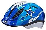 KED Meggy - Casco da Bicicletta per Bambini Green Stars 2020, Bambini, 13314094034, Blu con Motivo a Stelle, M 52-58 cm