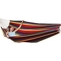 Hamaca XXL por 2 personas 400x160cm | Soporta hasta 150 kg | 100% algodón | Hamacas paracaídas AMANKA | multicolor