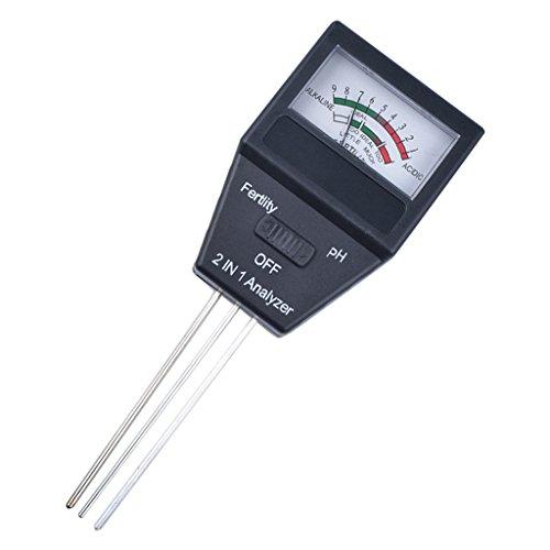 Homyl 2-In-1 Boden Tester PH Wert Feuchtigkeit Temperatur Messer für Outdoor- und Indoor-Pflanzen