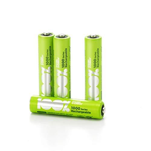 100{ea022ca886b63fa9d2ec2758c4507fcf2774f4e67a33d31e50c22be959116818} PeakPower Akkus AAA, Serie 1000 (min. 800mAh), NiMH, 4 Stück Akku-Batterien wiederaufladbar, 1,2 Volt (1,2V), LSD Technologie, Ready-to-Use