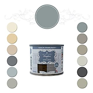 Amitha Verma Chalk Finish Paint, No Prep, One Coat, Fast Drying   DIY Makeover for Cabinets, Furniture & More, 4 Ounce, (Azure Green) by Amitha Verma