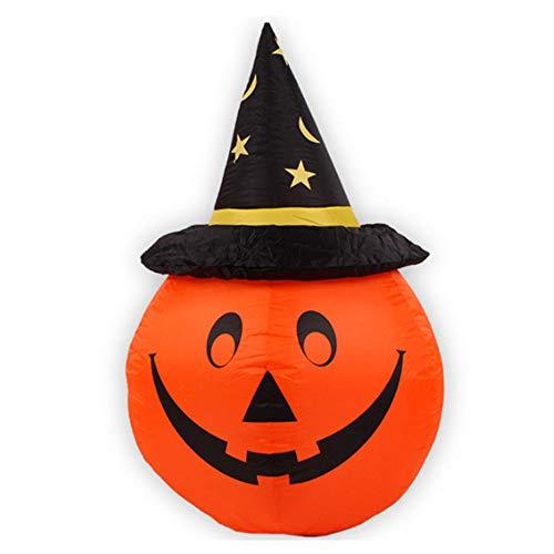 YANKAN KüRbis Halloween Dekoration, Aufblasbare KüRbis Halloweendekoration Sieben KüRbis (HöHe 1,2 M Durchmesser 0,8 M)