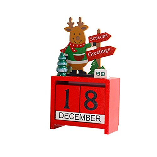 Holz Kalender Weihnachts kreative Geschenke Dekoration Mini Holz LuckyGirls (Geburtstag-platten Platz)