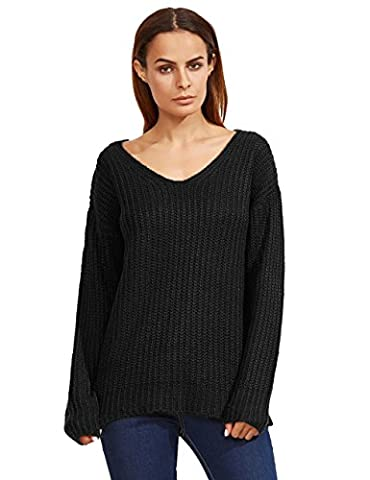 ROMWE Sweat-shirts femme Tops manches longues Taille