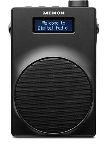 Medion Life E66880 MD 48080 DAB+ Radio (PLL UKW, 1,8 Zoll Display, Akku, Teleskopantenne, Kopfhöreranschluss, USB Ladeanschluss, 30 Watt) Schwarz