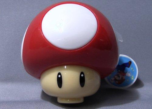 Preisvergleich Produktbild Nintendo Wii New Super Mario Toad Mushroom Figure Keychain With Projector~Projektor Licht Schlüsselanhänger Red Mushroom #1