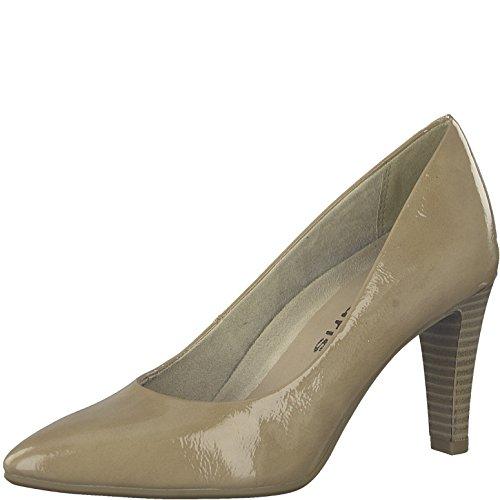 Tamaris Damen Pumps 22409-21,Frauen Pumps,elegant,feminin,festlich,Hochhackige Schuhe,Abendschuhe,Businessschuh,Trachten-Schuh,Stiletto 7.5cm,Nude PATENT,EU 40