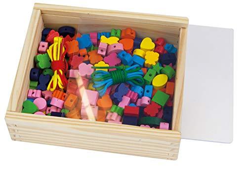SIMM Spielwaren Lena 32020 - Perles en Bois boîte en Bois