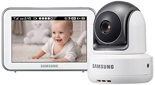 Samsung Brightview Baby Video Monitoring Pan and Tilt IR Night Vision, 5.0 inch