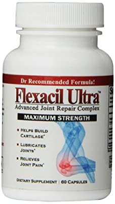 Flexacil Ultra - Joint Support Formula. High Potency Glucosamine, Chondroitin, Hyaluronic acid, MSM, & Omega 3 Fish Oil - 60 Capsules