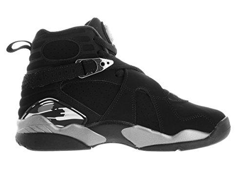 Nike Air Jordan 8 Retro Bg, Chaussures de Sport Garçon Noir / blanc / gris (noir / blanc - graphite claire)
