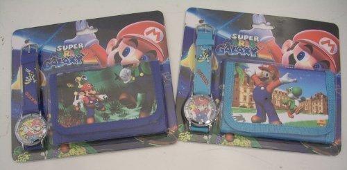 Super Mario Bros polso orologio e portafoglio/borsetta set regalo. Uno da due. (soggetto a disponibilità)