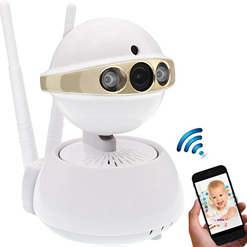 IP Camera,[UPGRADED]Security Camera Wireless Dual Antenna 960P HD Baby Pet Monitor with Pan/Tilt, Motion Detect Alert,Day/Night Vision,Two-Way Audio,Remote View (960P)