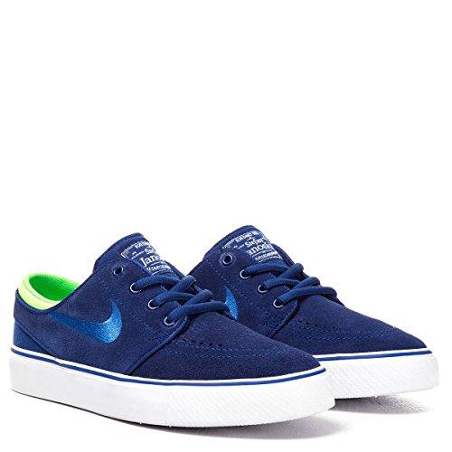 Nike Jungen Stefan Janoski (GS) Skaterschuhe, Schwarz Azul / Verde / Blanco (Dp Ryl Bl / Gm Ryl-Grn Strk-Whit)