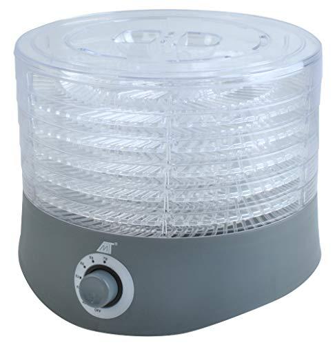 Dörrgerät Dörrgemüse Pilze Trockner Dörrautomat 280W 40-70°C 6 Ebenen 1m Kabel 6428 - Dicke Ovale Basis
