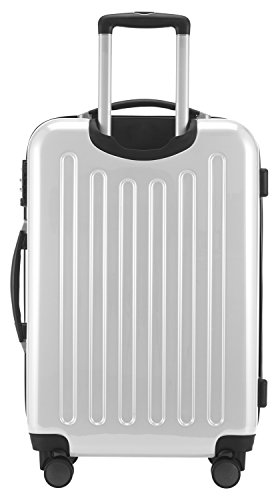 HAUPTSTADTKOFFER – Alex – Hartschalenkoffer Trolley Rollkoffer Reisekoffer Erweiterbar, TSA, Doppelrollen, 65 cm, 74 Liter, Weiß - 5