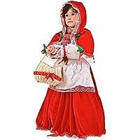 COSTUME di CARNEVALE da CAPPUCCETTO ROSSO IN VELLUTO vestito per bambina  ragazza 1-6 Anni 8d5ca8b2487