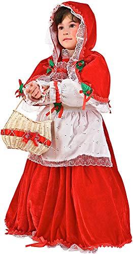 Rosso Kostüm Cappuccetto - Carnevale Venizano CAV1171-6 - Kinderkostüm CAPPUCCETTO Rosso IN Velluto - Alter: 1-6 Jahre - Größe: 6