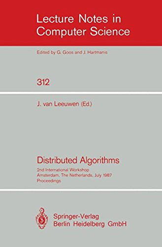 Distributed Algorithms: 2nd International Workshop, Amsterdam, The Netherlands, July 8-10, 1987. Proceedings (Lecture Notes in Computer Science)
