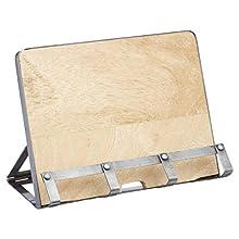 """KitchenCraft Industrial Kitchen Metal / Wooden Cookbook Stand & Tablet Holder, 26 x 21 cm (10"""" x 8.5"""")"""
