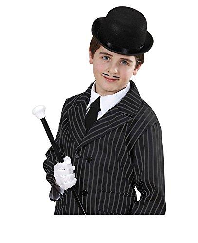 Child Fancy Dress Kostüm Magic Bowler Hüte Kappen mit Kopfbedeckungen (schwarz) ()