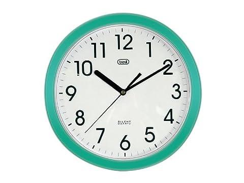 Trevi 3301 - Horloge murale à Quartz, ronde et silencieuse - 25cm - (Quarzo Verde)