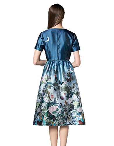 GBT Verbesserter Druck Seide Cheongsam Kleid Foto Farbe