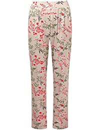288083664b Cotton Traders Womens Ladies Trousers Pull On Elasticated Waist Jersey  Print Pants 30