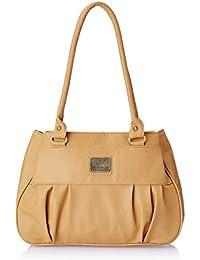 Fostelo Women's Deux Shoulder Bag (Beige) (FSB-401)