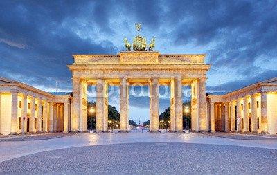 druck-shop24 Wunschmotiv: Berlin - Brandenburg Gate at night #106627374 - Bild auf Forex-Platte - 3:2-60 x 40 cm/40 x 60 cm