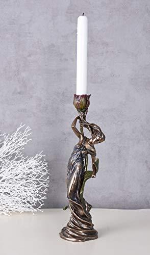 Kerzenleuchter Jugendstil Nymphe Kerzenhalter Shabby Chic AN10003A4 Palazzo Exklusiv